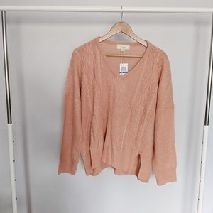 No Comment Salmon Knit Oversized Sweater